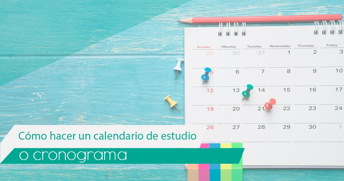 Imagen de: Cómo hacer un calendario de estudio o cronograma